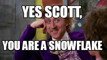 yes-scott-you-are-a-snowflake