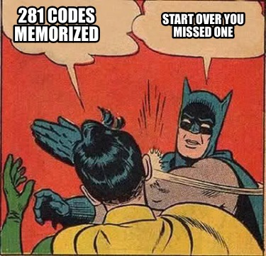 281-codes-memorized-start-over-you-missed-one