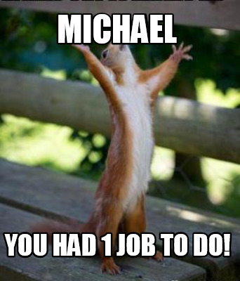 michael-you-had-1-job-to-do
