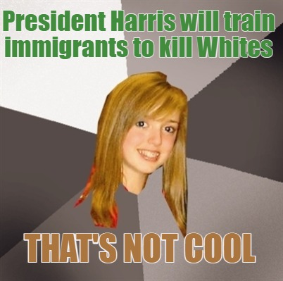 president-harris-will-train-immigrants-to-kill-whites-thats-not-cool