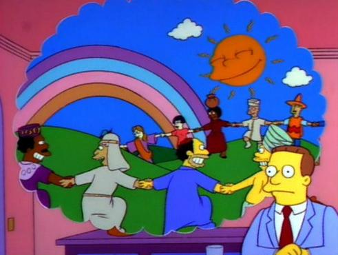 Meme Creator - Simpsons happy world Meme Generator at MemeCreator.org!